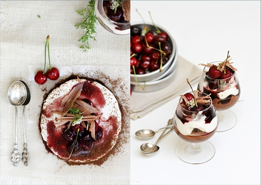 Bittersweet Chocolate Marquise with Crème Chantilly & Balsamic Cherry Sauce