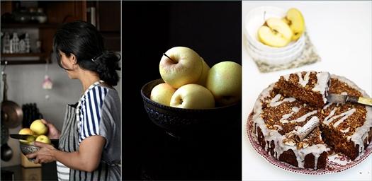 Baking  Classic Spiced Apple Walnut Buttermilk Coffee Cake – R'ock-tober #baketogether