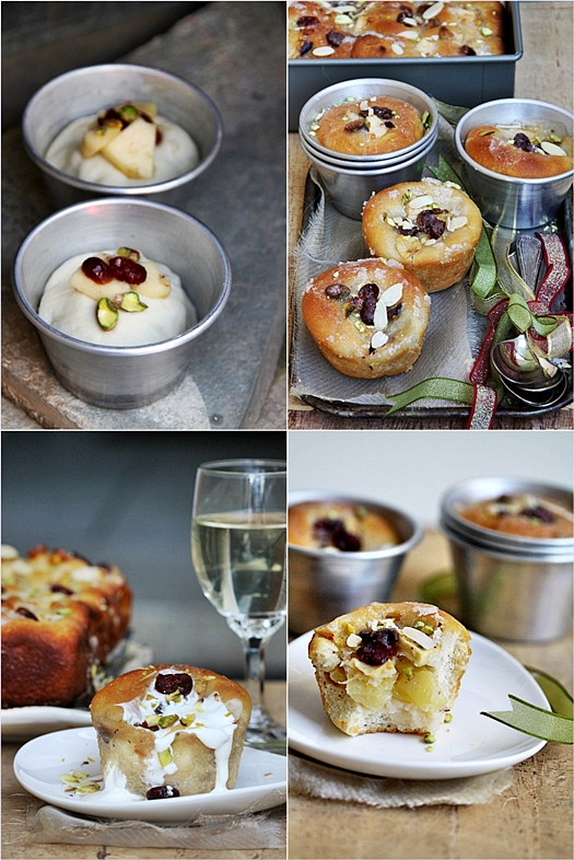 Apple Cranberry Almond Olive Oil Pull-Apart Loaf & Popovers