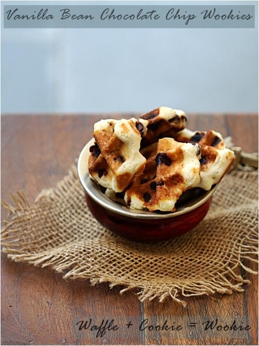 Holiday Baking| Vanilla Bean Chocolate Chip Wookies {Waffle + Cookies = Wookies!!}…Pennsylvania Dutch Waffle Cookies