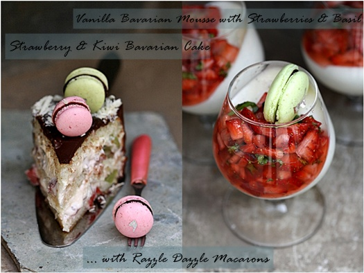 Strawberry & Kiwi Bavarian Cake & Vanilla Bavarian Mousse... with Razzle Dazzle Macarons 1