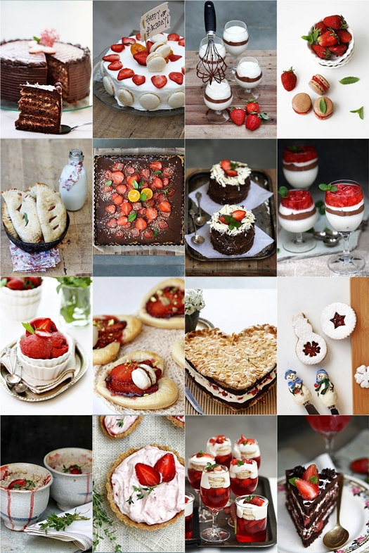 Strawberry based desserts on PAB