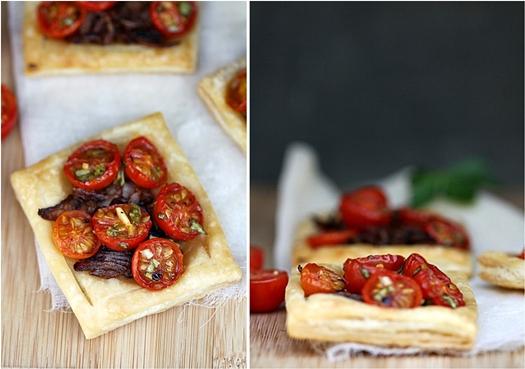 Cherry Tomato & Caramelised Onion Tartlettes