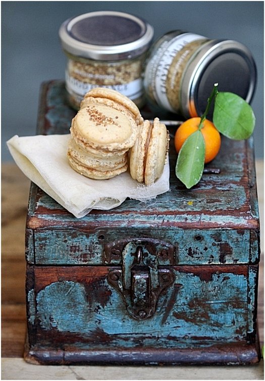 Blood Orange Macarons with Maple Orange Pastry Creme