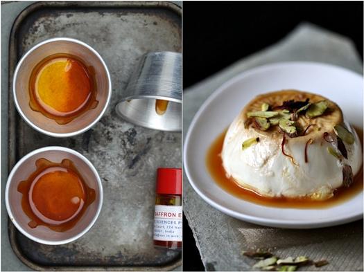 Saffron Caramel Panna Cotta