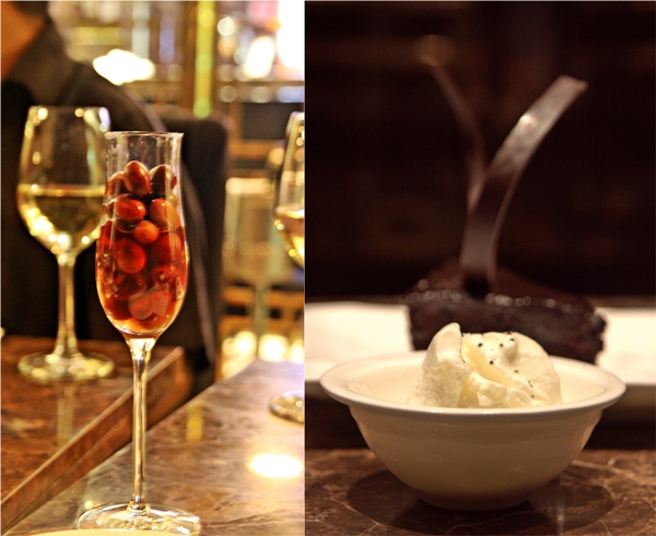 Chocolate Truffle Cake served with Extra Virgin Olive Oil Gelato with Olive Dust