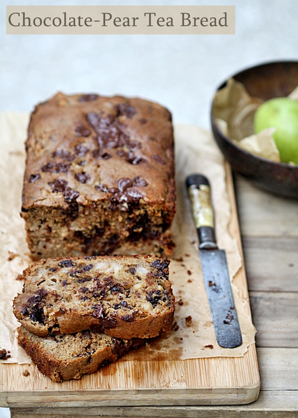 Baking & Book Review   Chocolate-Pear Tea Bread for Bread Baking Day … Baking for Friends {Tate's Bake Shop}