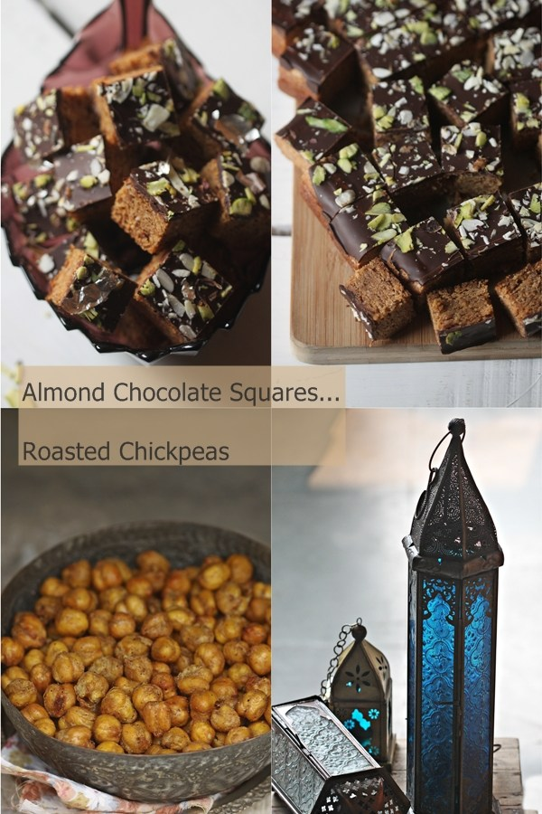 Baking | Almond Digestive Chocolate Squares & Roasted Garam Masala Chickpeas … Diwali / Holiday Baking