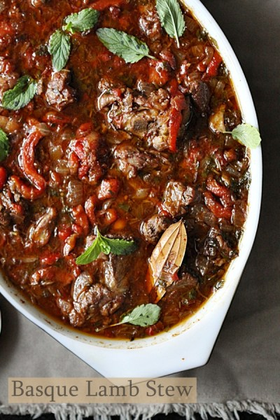 Baking | Basque Lamb Stew … White Wine or Red? Surpisingly both!