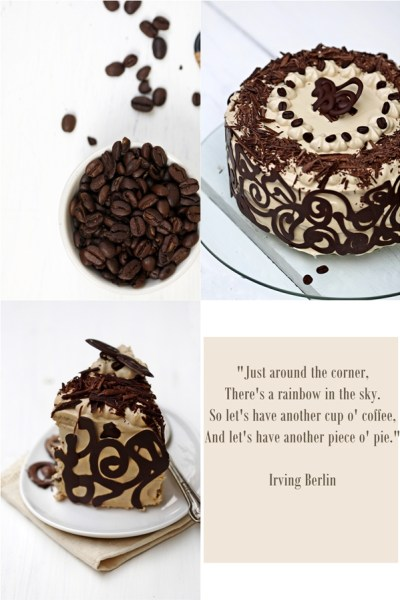 Baking   Coffee & Vanilla Bean Layered Cake …Happy Birthday to me!