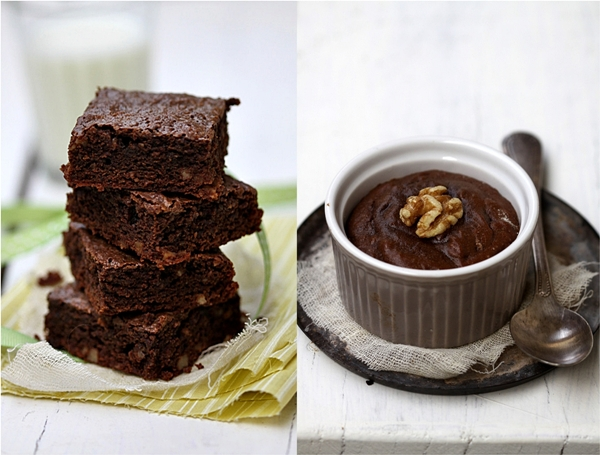 Wholewheat baking with chocolate.