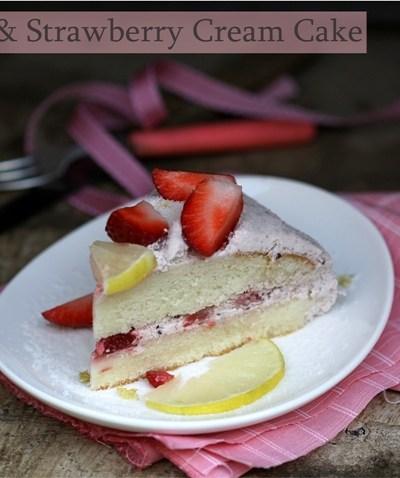 Baking   Lime & Strawberry Cream Cake … a splash of pink in December!
