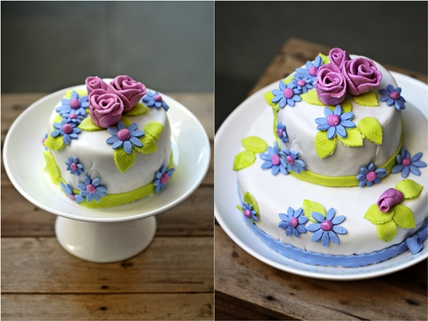 How Much Cake Do I Need For My Wedding: Tea Rose Fondant Cake ... And A Chance To Gift A