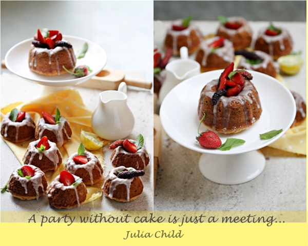 Lime Marzipan Mini Bundt Cakes