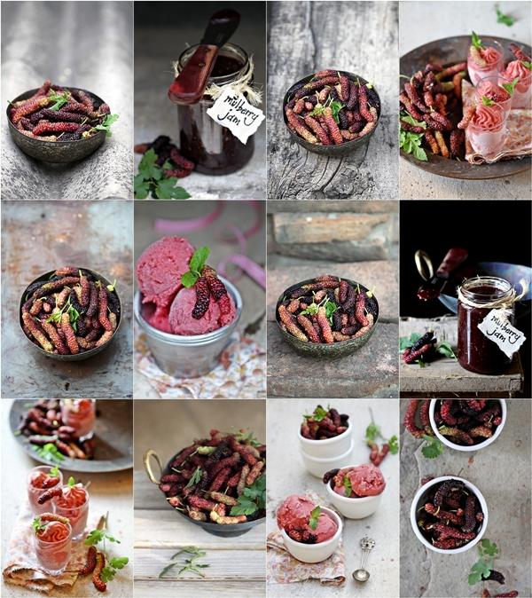Mulberry Strawberry Buttermilk Sorbet & Mulberry Jam 4