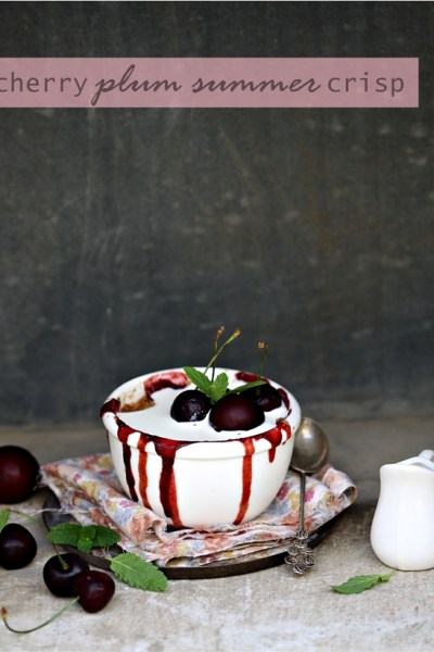 Baking | Cherry & Plum Crisp … Happy Mothers Day #stonefruitlove #summer