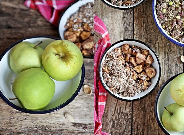 GF Apple Pistachio Craisin Crumble ... with oats and finger millet {ragi} 2