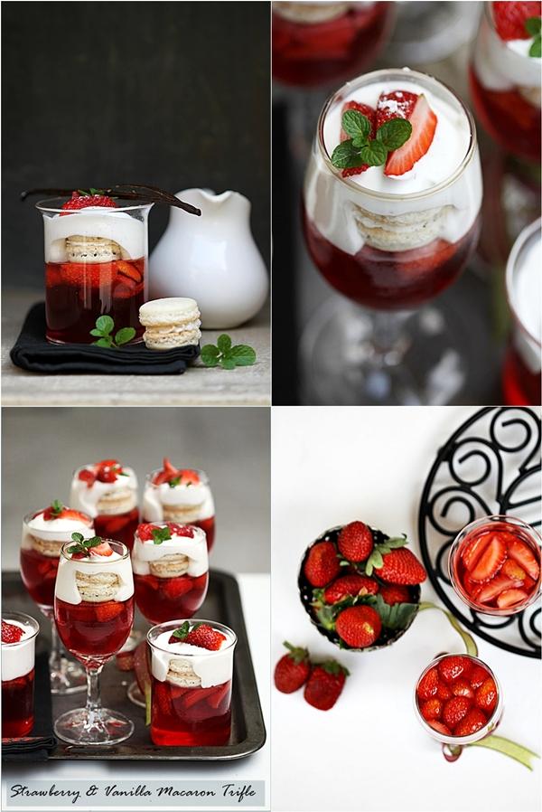 Strawberry Vanilla Macaron Trifle