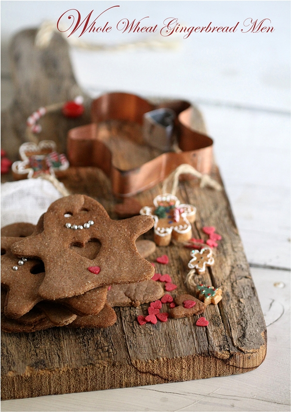 Baking | Whole Wheat Gingerbread Men …christmas cookies with a heart