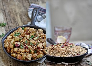 Apple, Oats and Walnut Skillet Crumble