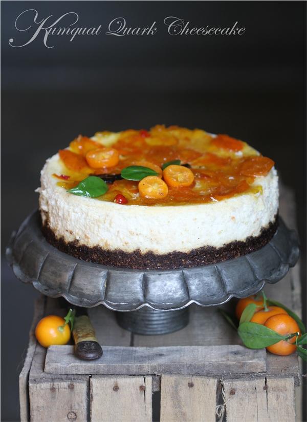 Baking |Kumquat Quark Cheesecake with a Date Almond Kumquat Base … gluten free, healthy and delicious