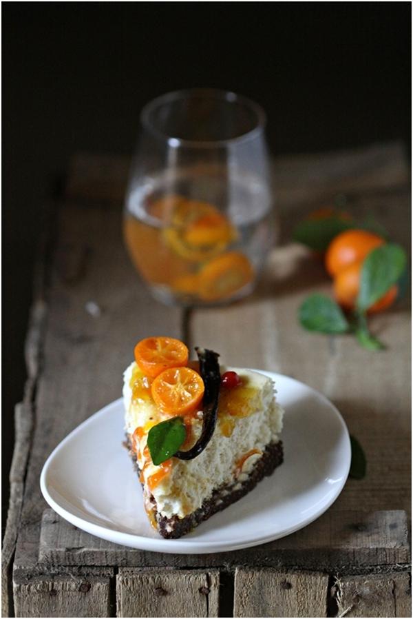 Kumquat Quark Cheesecake