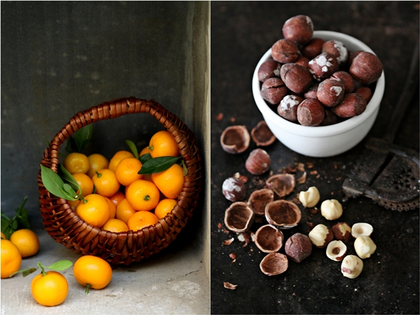 Hazelnuts and kumquats