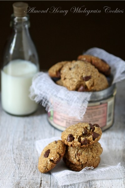 Baking | Eggless Almond Honey Wholegrain Cookies … #comfortfood #cookies #eggless #wholegrain
