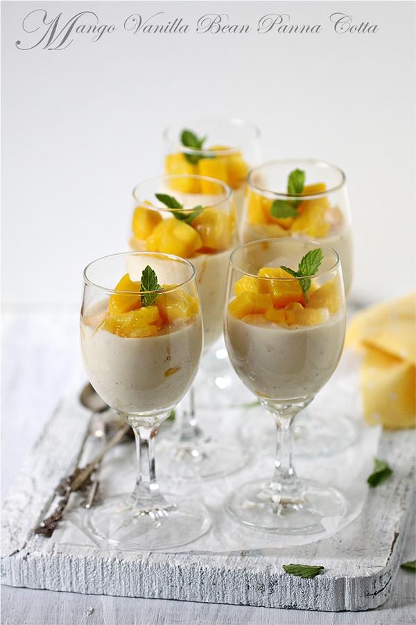 Mango Vanilla Bean Panna Cotta