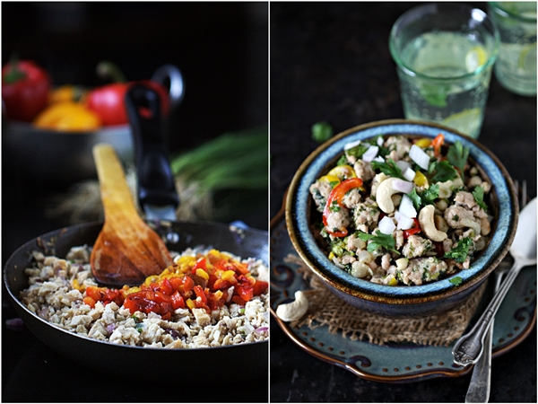 Cooking | Thai Chicken Mince, Broccoli & Pepper Salad {Larb Gai} #glutenfree #healthy #comfortfood