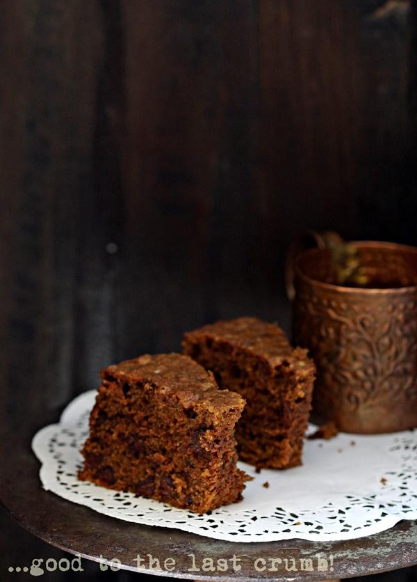 Wholegrain Coffee Chocolate Chip Pound Cake