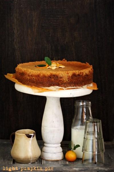 Baking |Light Pumpkin Pie … pie that thinks it's a cheesecake #fall #dessert #pumpkin