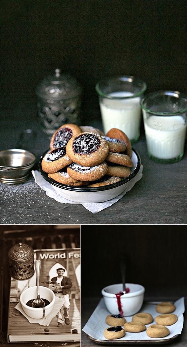 World Feast by Vikas Khanna,Lingonberry Thumbprint Cookies