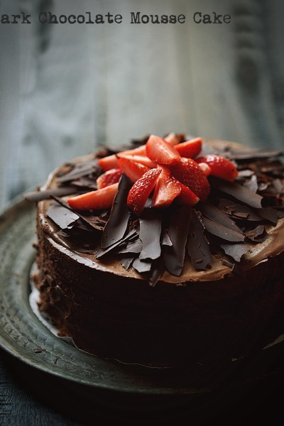 Baking | Dark Chocolate Mousse Cake … for the love of baking & blogging