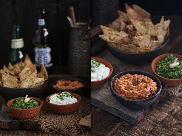 Wholegrain Olive Oil Crackers & Dips
