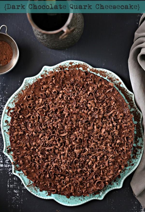 Baking | GF Dark Chocolate Quark Cheesecake … #glutenfree by default #quark #dessert