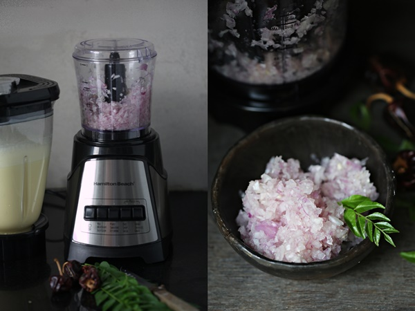 Hamilton Beach Multiblender chopped onions