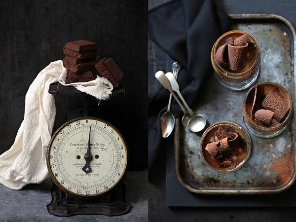 Coffee chocolate panna cotta