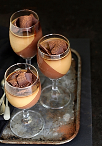 coffee-chocolate-panna-cotta-325-466 No Bake Dessert | Dark Chocolate Cream with Coffee Panna Cotta #dessertinglasses #glutenfree