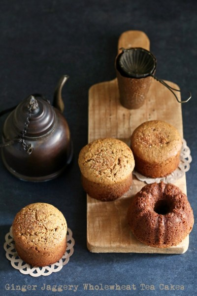 Baking   Ginger Jaggery Wholewheat Tea Cakes #inspiredbaking