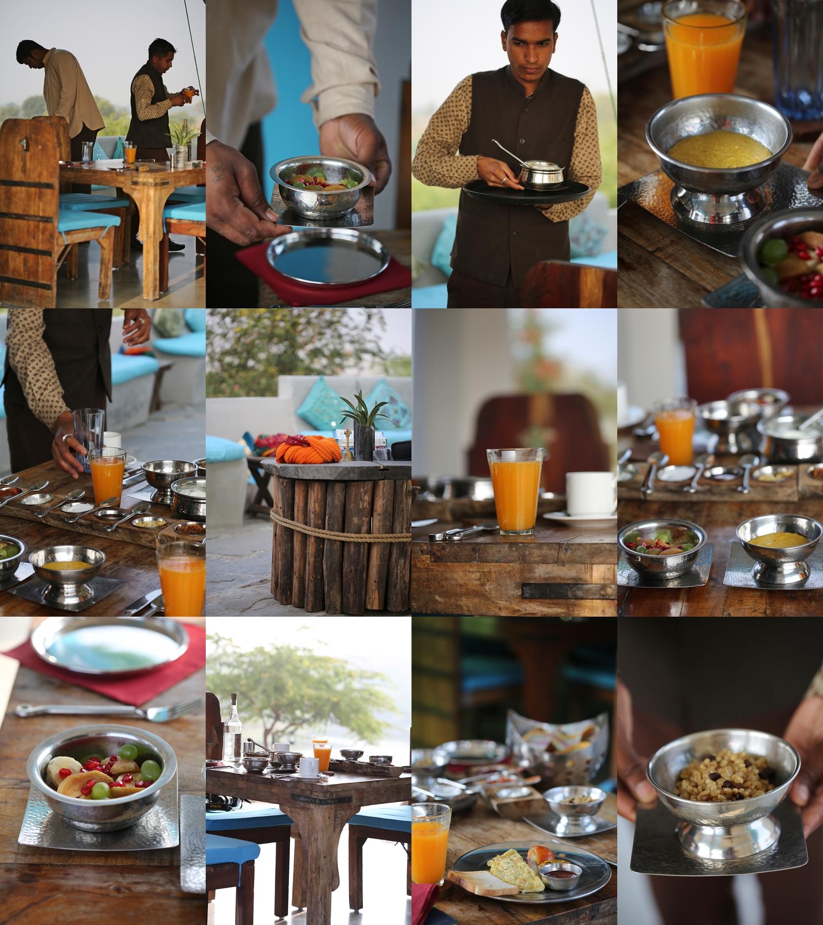 Breakfast at Lakshman Sagar