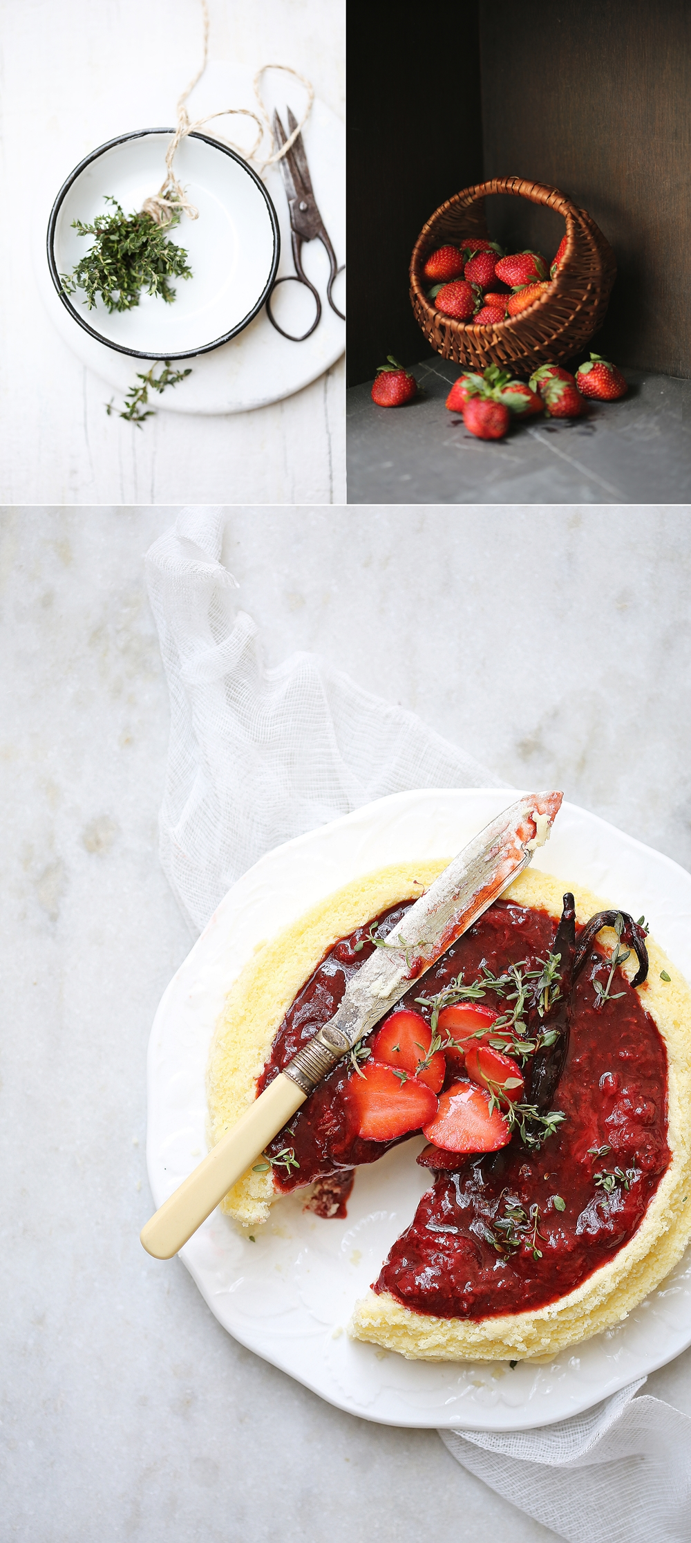 White Chocolate Cheesecake with balsamic strawberry topping