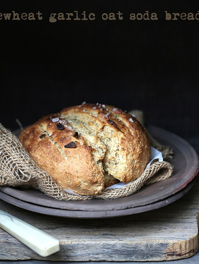 Baking | Wholewheat Garlic Oat Soda Bread … Instagram inspired baking #makehalfyourgrainswhole