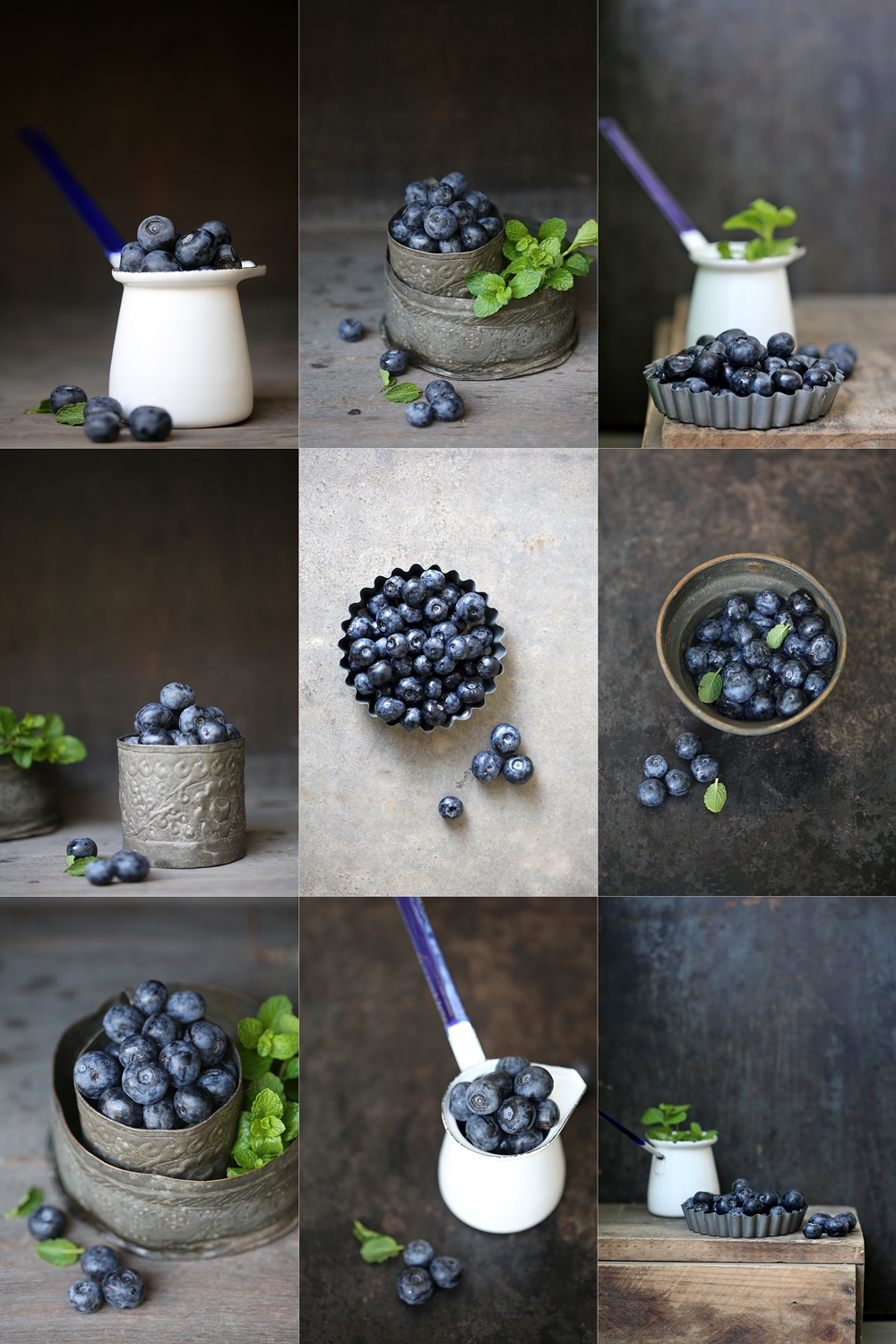 Blueberries, food styling, raw