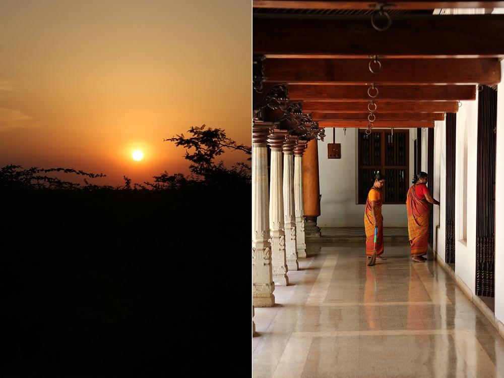 Sunset, Chidambaram Vilas, Karaikudi, Chettinad, South India