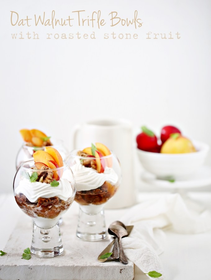 Baking | Oat Walnut Trifle Bowls with Roasted Stone Fruit … bowls of happiness!