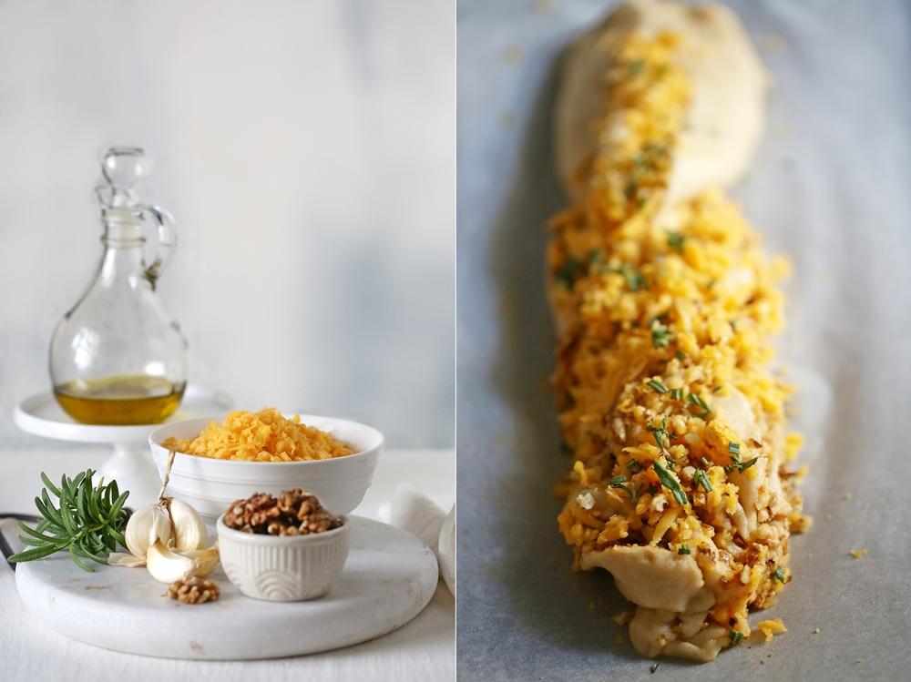 Cheese Garlic Rosemary Eggless Brioche