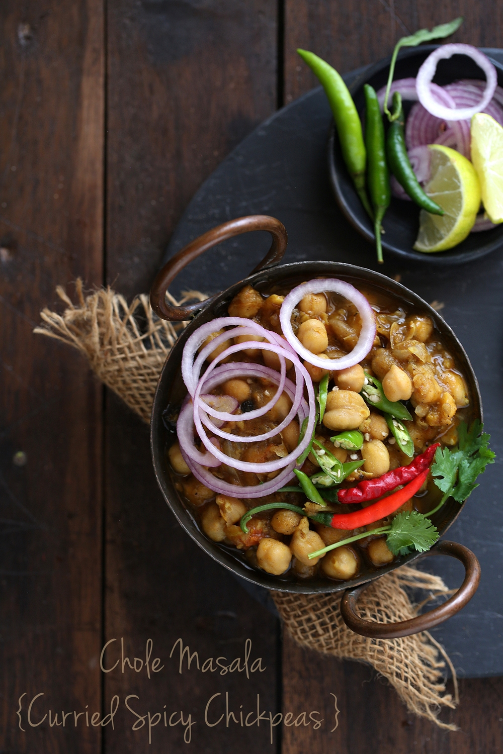 Chole Masala / Curried Spicy Chickpeas