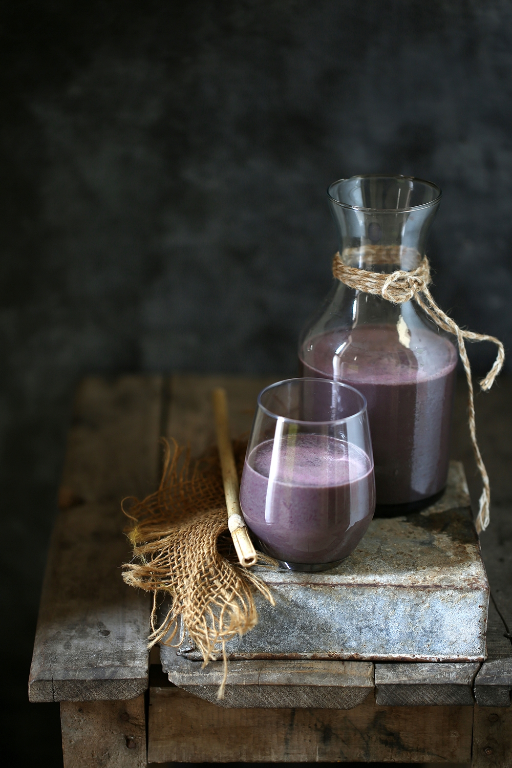 Beetroot spirulina buttermilk lassi