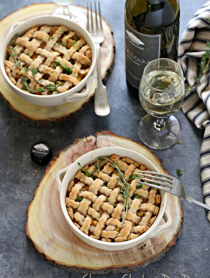 Baking | Cheesy Chicken Pot Pies … comfort food for the holidays with #bigbanyanwines